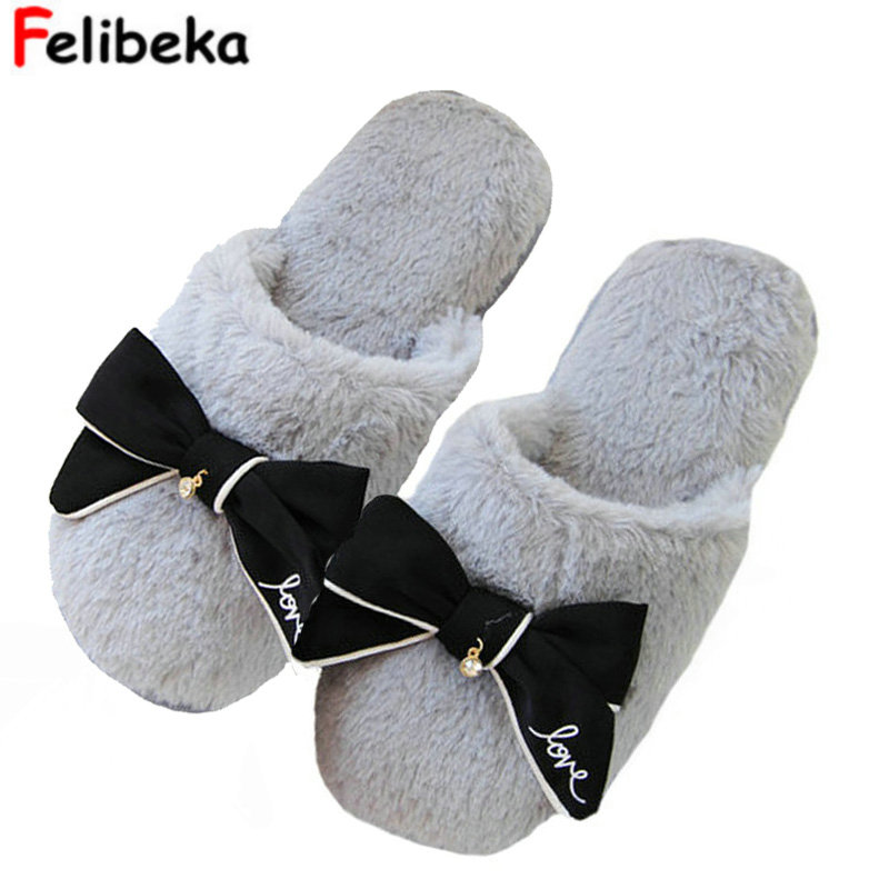 flip flops sweet lace bow fur slides women designer winter sandals warm and cozy home slippers with flower medicine science type blood test slides and marrow slides