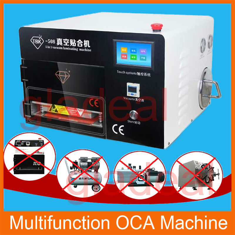 TBK OCA Vacuum Laminating Machine + Autoclave Bubble Remover for LCD Touch Screen Digitizer Displays Separator Repair Tool Kit 17 14cm silicone pad silica mat gel of ko tbk oca vacuum laminating machine lcd touch screen repair separator kit tool