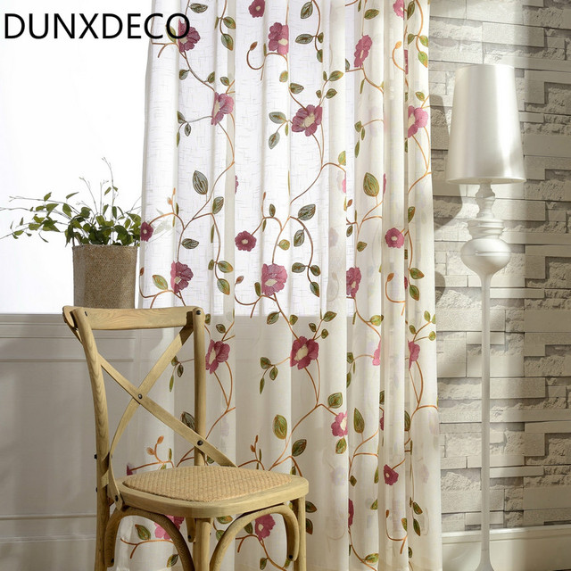 DUNXDECO Sheer Curtais Per Soggiorno Francese Vintage Country Style ...