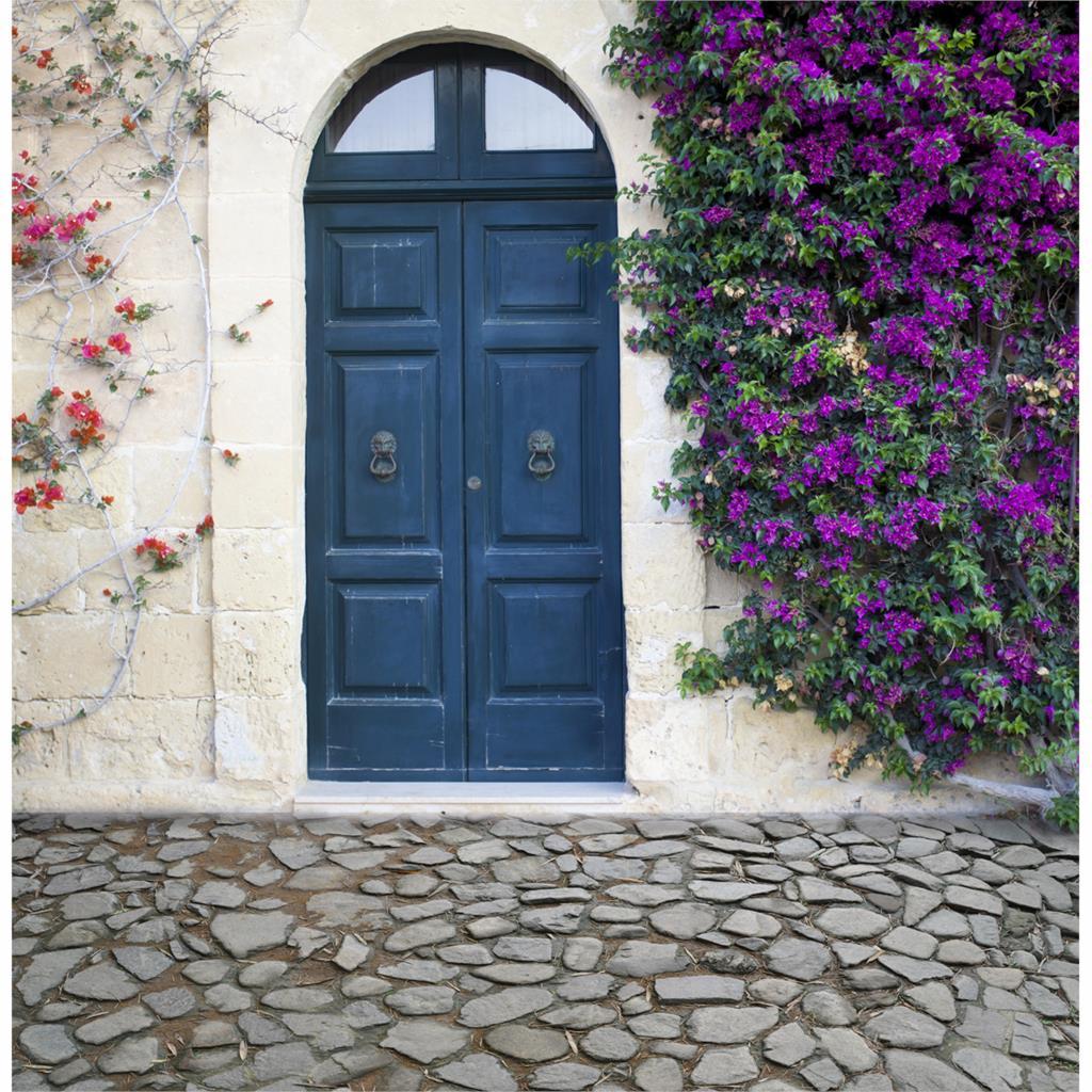 Allenjoy achtergrond mooie Photocall voor bruiloften dorp nobele deur - Camera en foto - Foto 3