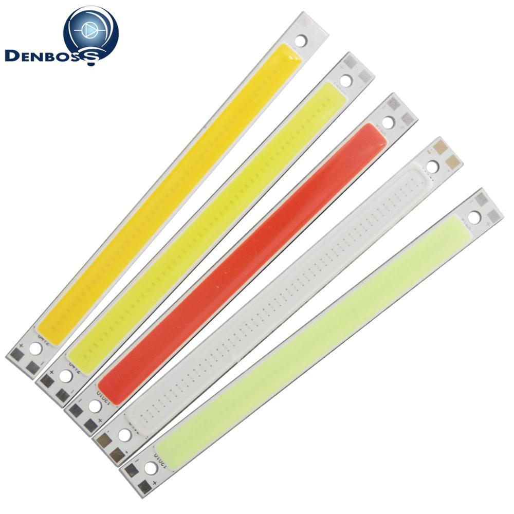 Allcob LED COB Strip 120mm 10mm Light Lamp 9V 12V DC 10W Warm White Blue Red Green FLIP Chips For DIY Light Cob Led Tubes