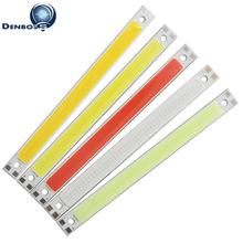 Купить с кэшбэком allcob LED COB Strip 120mm 10mm Light Lamp 9V 12V DC 10W Warm White Blue Red Green FLIP Chips for DIY light cob led tubes