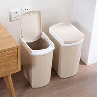 Press type plastic with lid trash can home living room garbage kitchen bathroom covered trash can LO918550