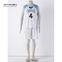 2017 Free Shipping Costume Anime Kuroko no Basuke RAKUZAN School Basketball Uniform Clothes Akashi Seijuro Sport Cosplay Costume