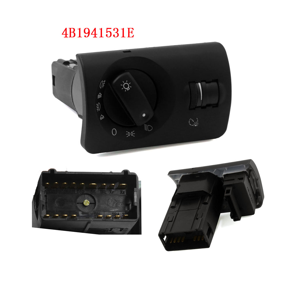 4B1941531E Headlight Fog Lamp Control Switch For AUDI A6 Avant Allroad Q7 1997 2013