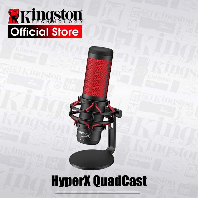 Профессиональный электронный спортивный микрофон Kingston HyperX QuadCast, микрофон красного цвета для компьютерных игр, голосовые игры