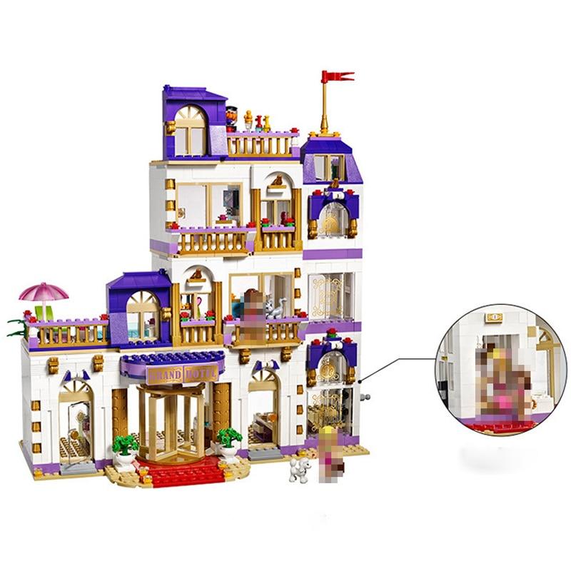 Friends Series Heartlake Grand Hotel Model Building Blocks Enlighten Figure Toys For Children Compatible 41101 DIY Gifts