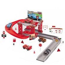 Машина Disney Pixar, 3 трек, парковочная молния McQueen, пластиковые литые игрушки, модель автомобиля, ребенок, день рождения, Рождество, автомобиль, игрушка, подарок
