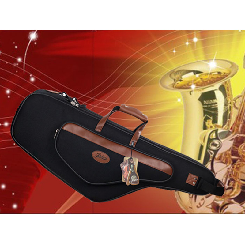 High-grade New Wholesale professional portable tenor saxophone bag Bb sax gig case waterproof backpack soft padded strap thicker 90cm professional portable bamboo chinese dizi flute bag gig soft case design concert cover backpack adjustable shoulder strap