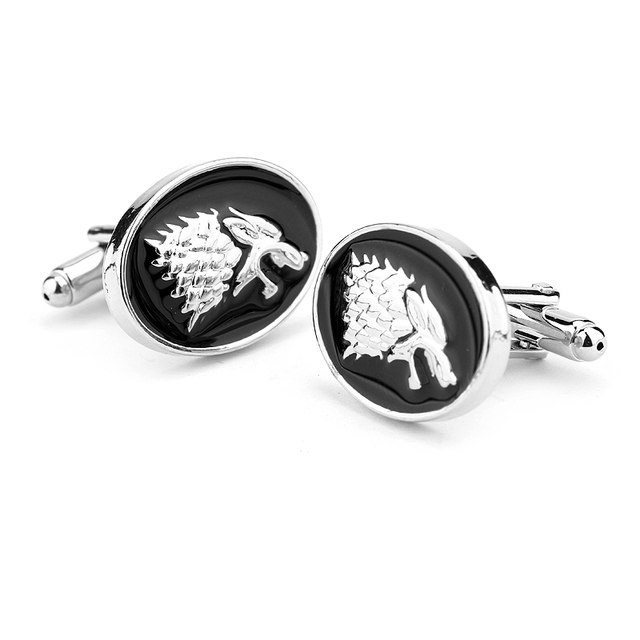 House Stark Wolf Head Cuff Links