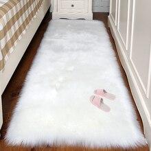 Искусственный шерстяной ковер прямоугольник/квадратный гарнир искусственный коврик подушка для сиденья Обычная кожа мех простые пушистые коврики моющиеся домашний текстиль