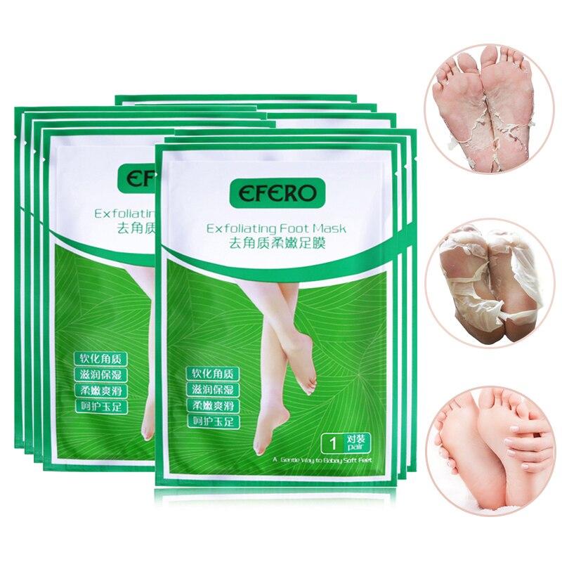 EFERO 4PC = 2Pack פילינג מסכת רגל פילינג - טיפוח העור
