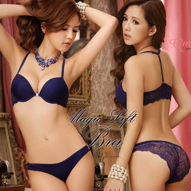 23e14a6c0ff52 lingerie women s bra set Young girl underwear lace sexy bra push up small  deep V-
