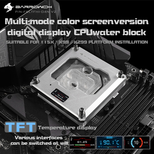 Image 2 - Barrowch FBLTFHI 04N V2, Per Intel Lga115X/X99/X299 CPU Blocchi di Acqua, Temperatura Display Digitale Microwaterway