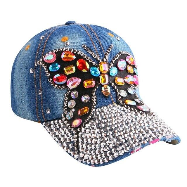Marca gorras nuevo diseño popular personaje lindo animal mariposa muchacha  de las mujeres de belleza snapback b05762f54f2