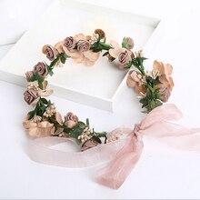Boda accesorios nupciales del pelo flor de hadas guirnalda de headwear mujeres cintas para el pelo arco de las muchachas decoración vestido de moda de la pista de la joyería