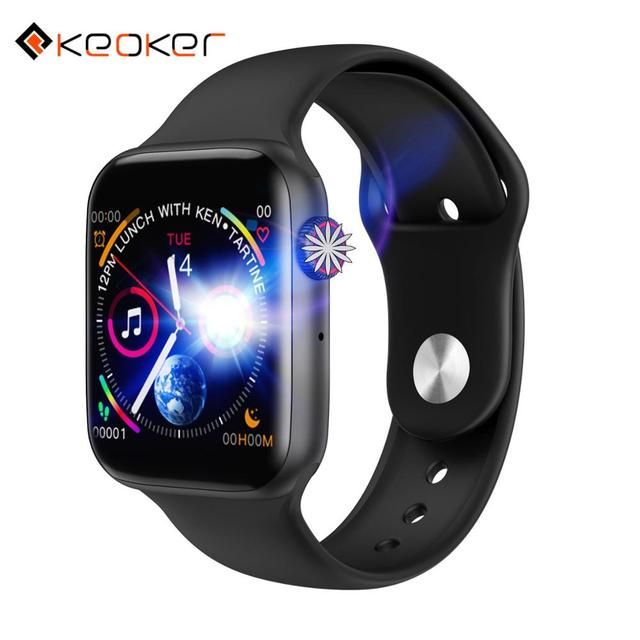 Keoker 2019 New Smartwatch Men ECG Heart Rate Fitness Monitor Bluetooth Call Touch Screen Watch Women For Apple Android Phone