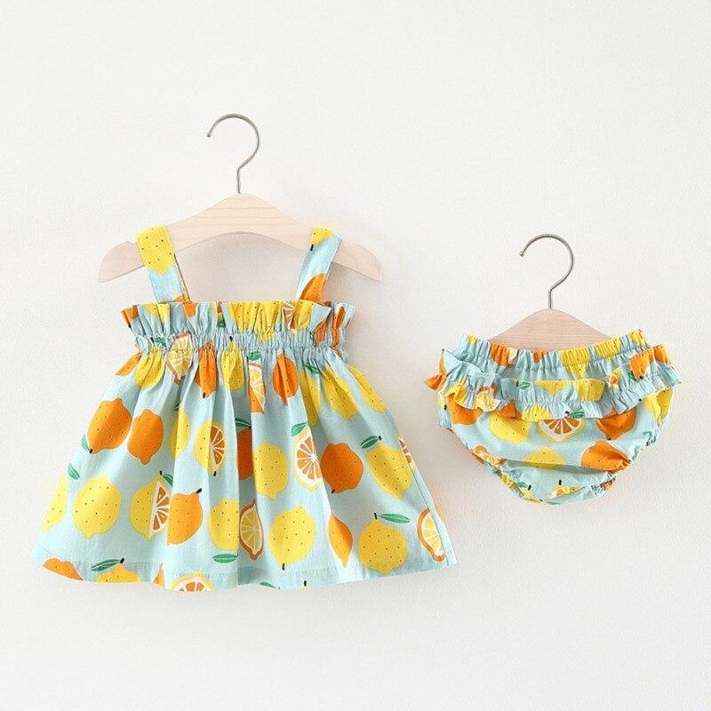 2018 baby girls dress Baby Dress Princess 0-3years Girls Dress Cotton 2 pcs Clothing Dress Summer Girls Clothes