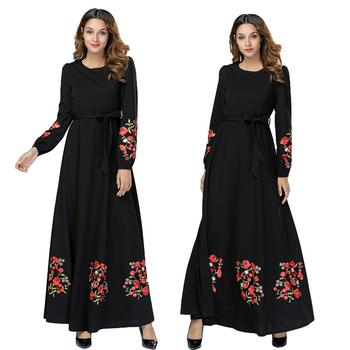 أسود vestidos قفطان عباية دبي العربية الحجاب مسلم اللباس ملابس النساء elbise التركية الإسلامية رداء musulmane ونغ فساتين 1