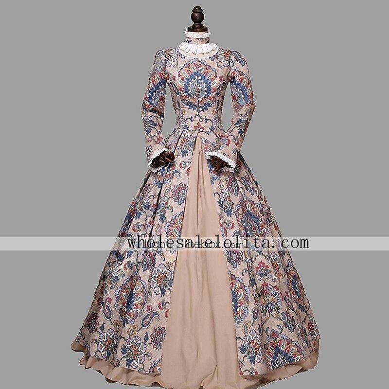 Victorian Renaissance Floral font b Dress b font Ball Gown font b Winter b font Princess