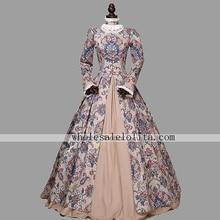 Victorian Renaissance Floral Ball Gown