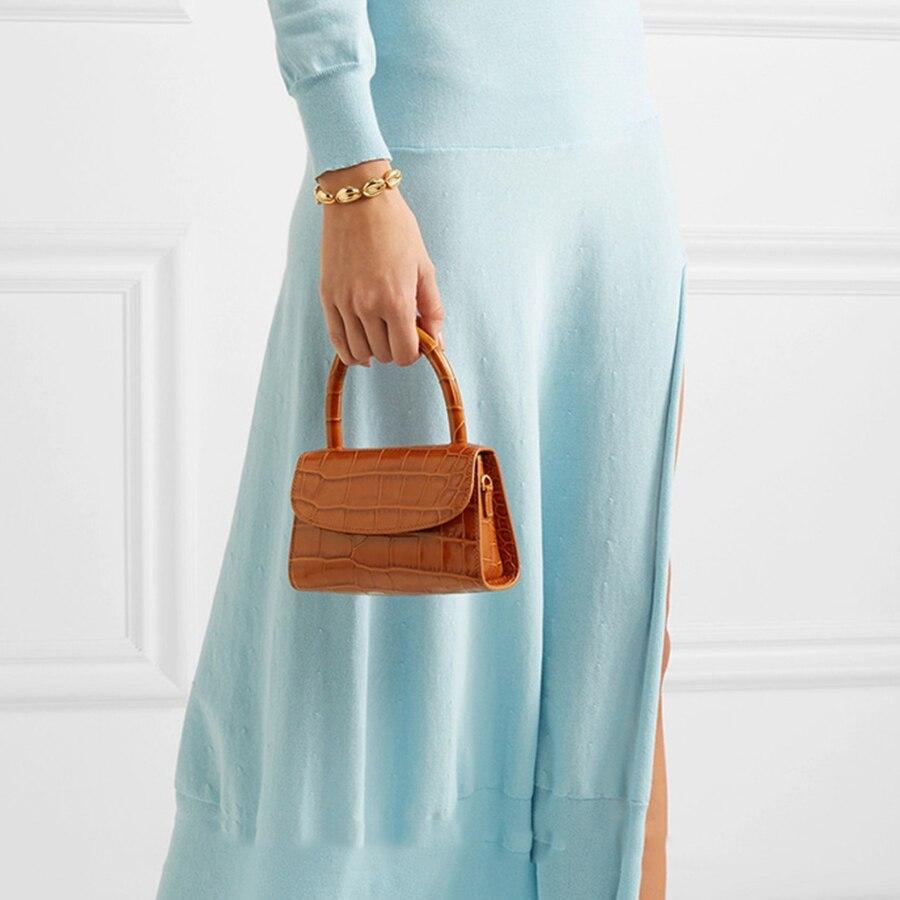 Image 5 - Bolsa Feminina Fashion Alligator Top handle Handbag Designer Women Crossbody Bag Mini Shoulder Messenger Bags for Women 2019 Sac-in Top-Handle Bags from Luggage & Bags