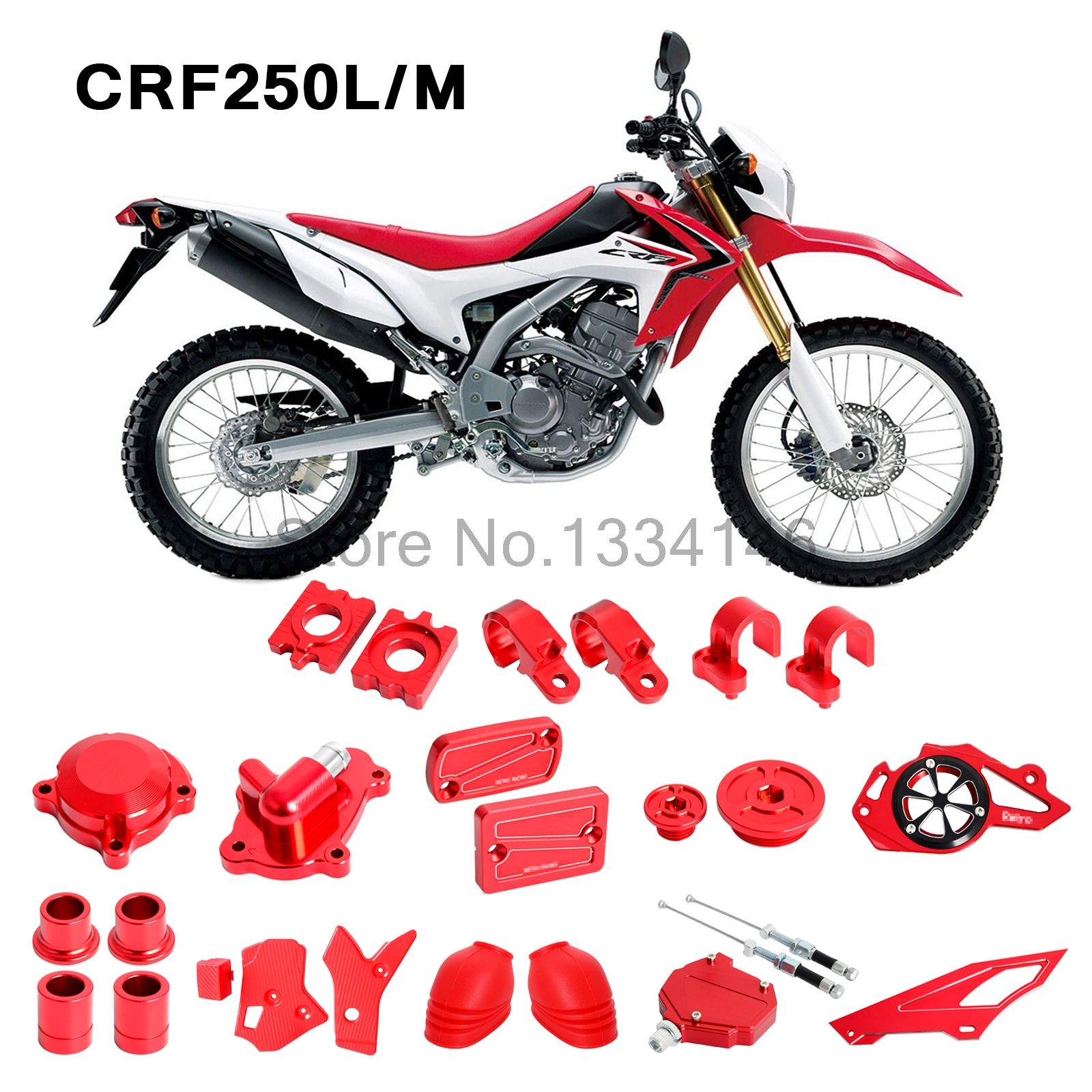 Sepeda Motor CNC Mereparasi Kekuatan Tinggi Penuh Eye Catching Suku Cadang untuk Honda CRF250L CRF250M 2012 2013 2014 2015