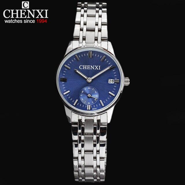 CHENXI Luxury Brand Women's Quartz Watches Date Clock Stainless Steel Watch Ladies Fashion Casual Quartz-Watch Women WristWatch