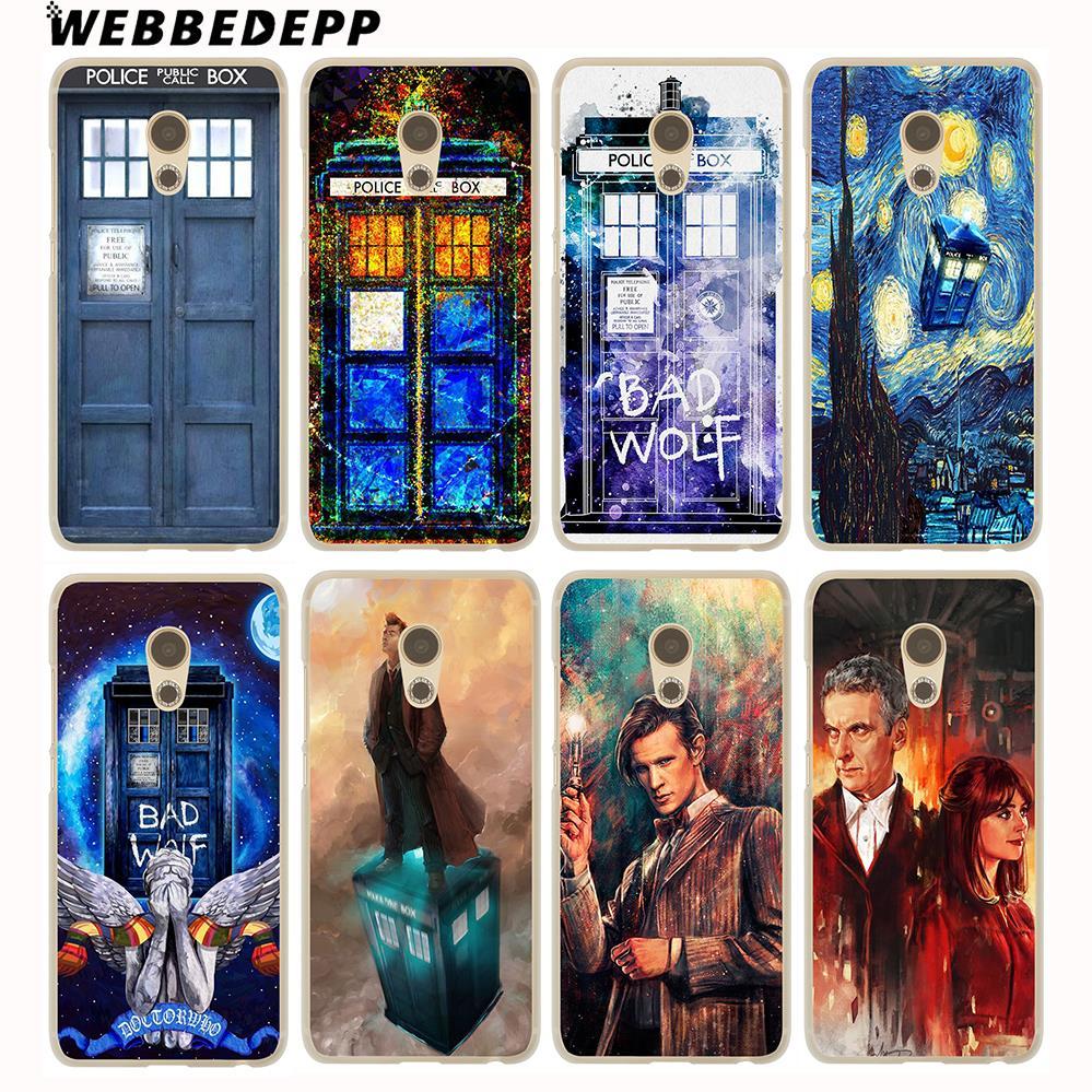 WEBBEDEPP Tardis Box Doctor Who Hard Cover Case for Meizu M6 M5C M5S M5 M3S M3 M2 Note Mini Pro 6 7 U10 U20