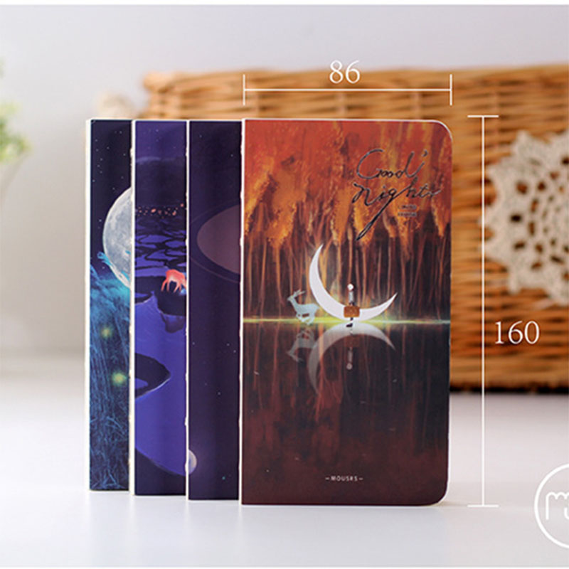 New Sketchbook Diary Drawing 80 Sheets School Notebook Paper Goodnight set Skech book office School Supplies Gift лампа ночная goodnight light paper boat