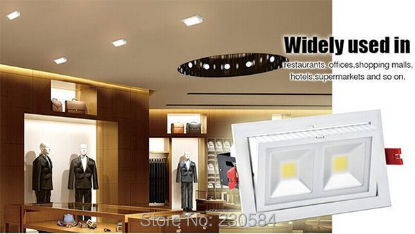 30w 40w 50w 60w COB commercial and office lighting high power recessed down light adjustable