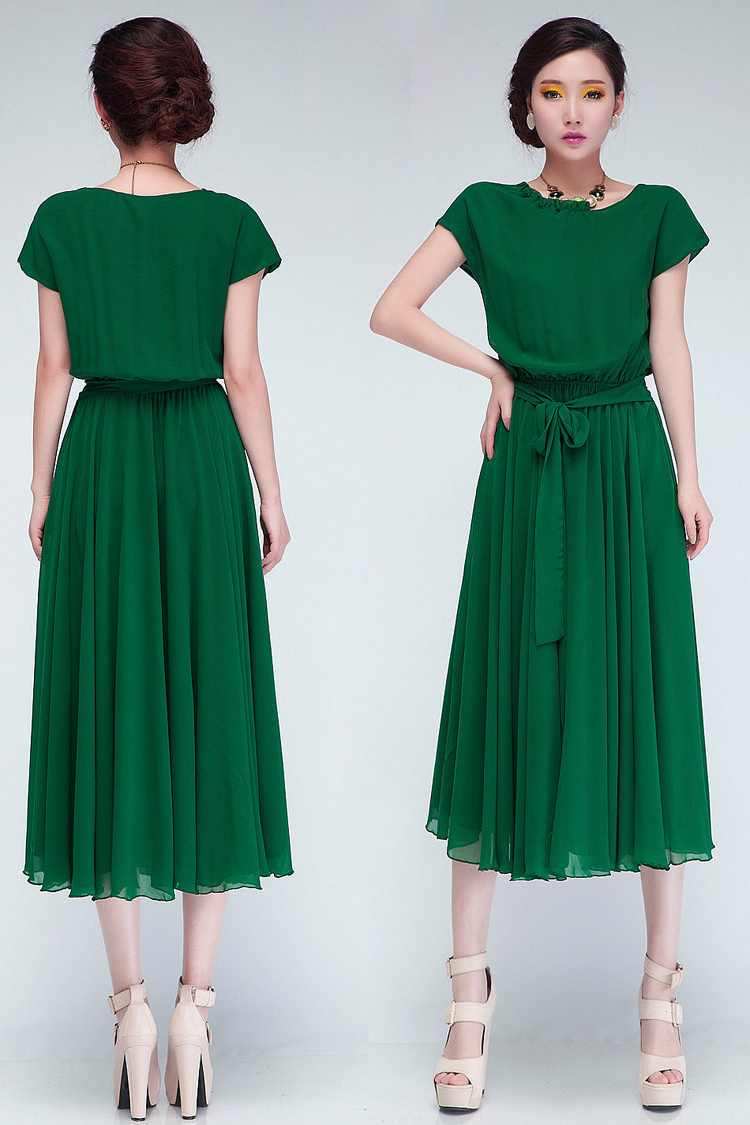 Aliexpress.com : Buy 2014 New Women Summer Casual Dress Green ...