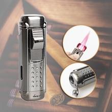 FIREDOG Smoke Fast Shipping W/ Cigar Punch Gadget Cigar Lighter Quadruple Windproof Cigarette Lighter LD-1