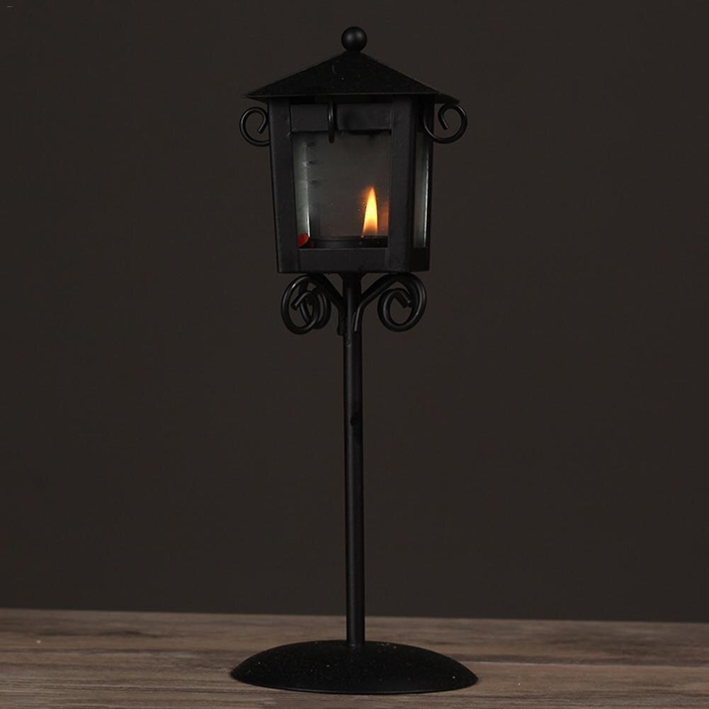 Vintage Iron Candlestick Street Lamp Floor Lamp European Furniture Artware Decorations