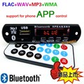 Bluetooth 4.0 Módulo de Placa de Decodificación MP3 digita lLED 12 V APE FLAC DAE WAV Decodificador Reproductor de MP3 Radio FM AUX Teléfono app control