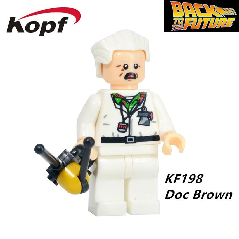 KF198 Super Heroes Back to the Future Doc Brown Set 21103 Bricks Building Blocks Dolls Learning Figure For Children Gift Toys