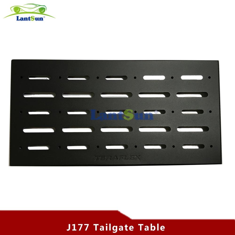 J177 Stůl zadních dveří z černé oceli, zadní dveře pro jeep wrangler JK 07-16 pro automobilové produkty Lantsun