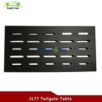 LANTSUN J177 Black Steel Rear Door Table Tail Gate Table Fits Jeep Wrangler JK 07 16