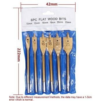 цена 6 Pcs High Speed Steel  Flat Drill Bit With Titanium Plating Spade Drill Bits For Professional Carpenters Woodworking Work онлайн в 2017 году
