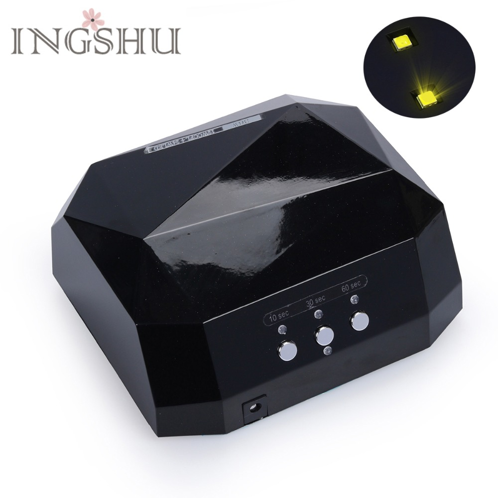 INGSHU Sun 36W Upgraded UV&LED Nail Lamp For Nails Fast Drying Diamond Shaped Nail Lamp Curing for UV Gel Polish Nail Art