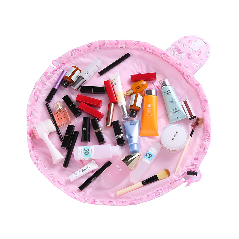 NEW Organizer Large-capacity Drawstring Travel cosmetic bag Makeup bags storage bag magic Pouch Toiletry Beauty Kit Box Wash Bag 5