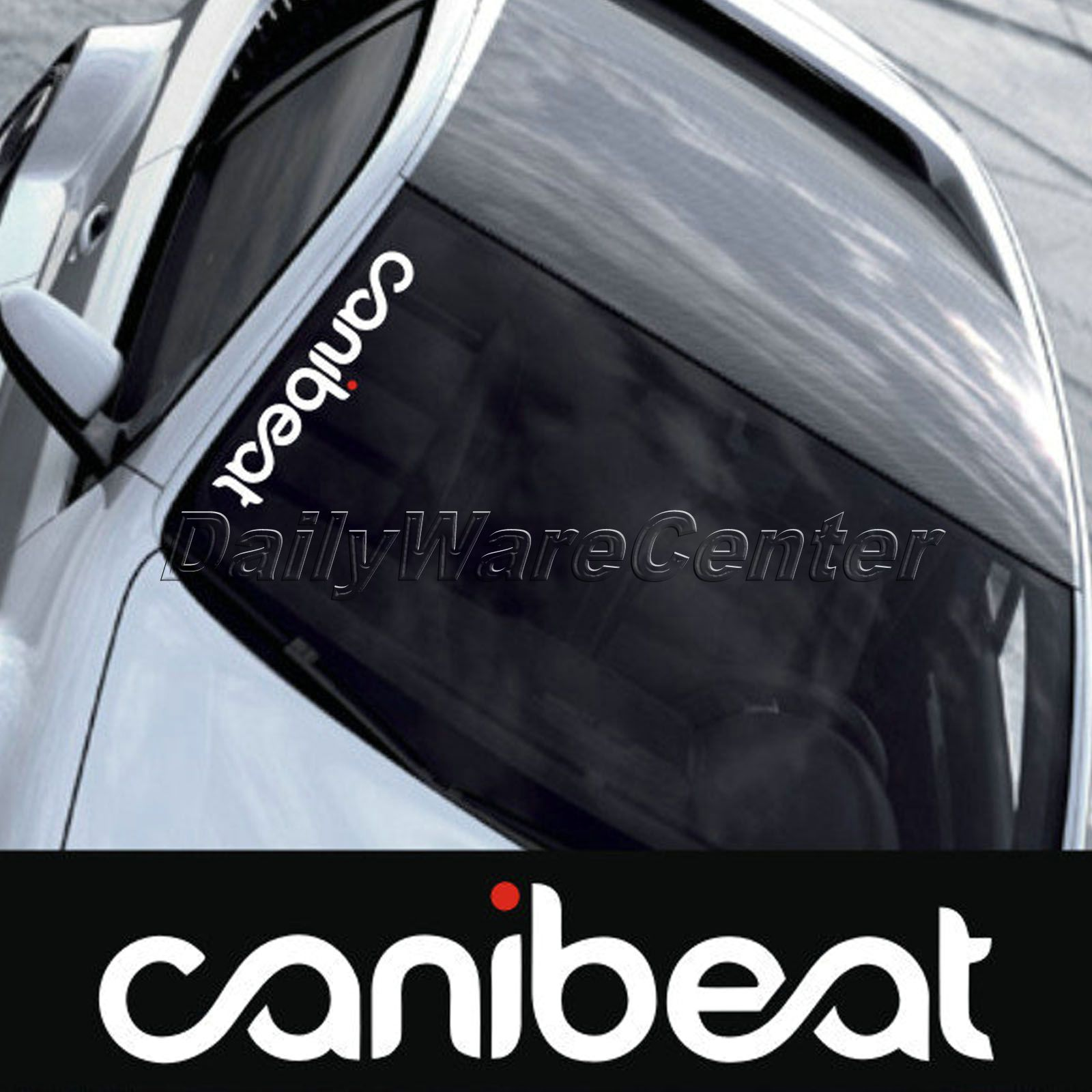 US $5 05 11% OFF 2016 New reflective waterproof cool funny hellaflush  canibeat modified die cut car sticker for front windshield-in Car Stickers  from