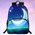 Beauty  Popular Fashion Polyester Prints Starry Sky  Black Men Schoolbag Womens School Backpack Children School Bags for Kids