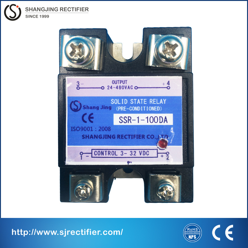 solid state relay module input 3~32VDC output 35~480VAC(DC-AC) current 100A single phase relay solid state for AC power dc to ac single phase solid state relay mjgx 3 3 32vdc 480vac 40a