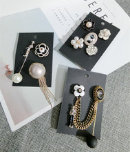 Korea Handmade Vintage Saturna Figure Tassel Simulated pearl Badge Brooches Pins Fashion Jewelry Woman Accessories-JQGWBH023E