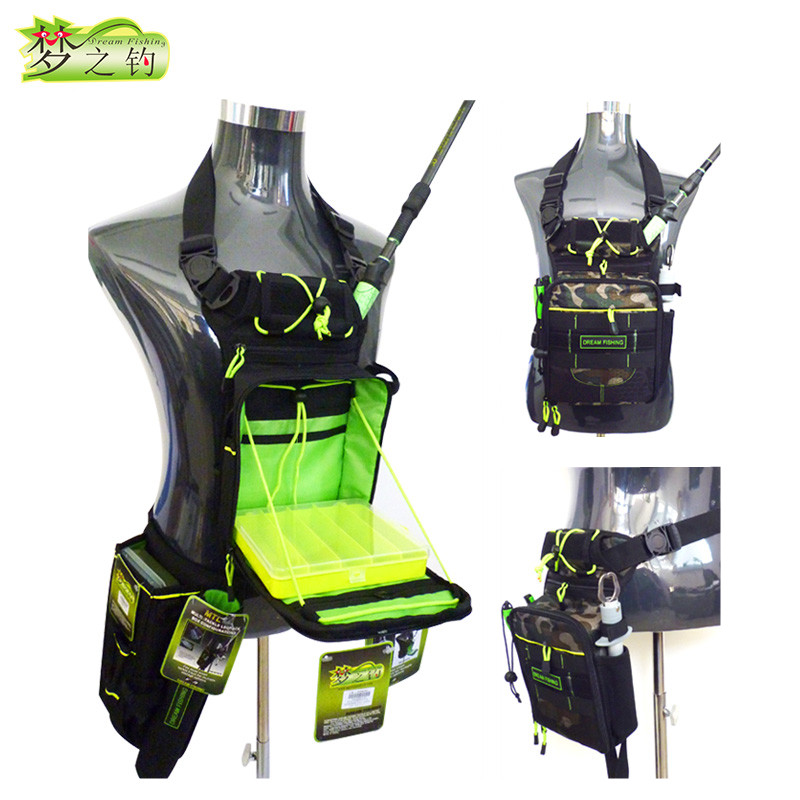 Dream Fishing 17x6x22cm Fishing Bag+Fishing Box 1200D Nylon