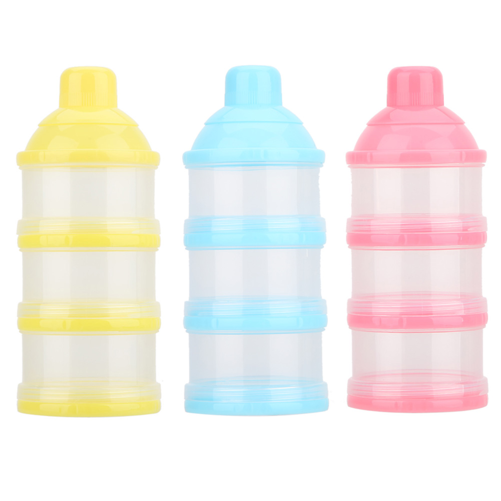 Child Baby Bottle Food Container Three Grid Formula Feeding Milk Powder Box Feeding Food Containers