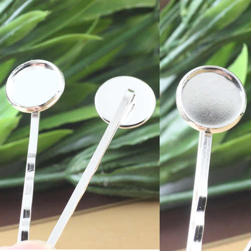 10pcs Cabochon Settings 12mm 14mm Hair Jewelry Lace Base Blank for cameo DIY Hairclip Hairpins Retro Jewelry Accessorie Findings