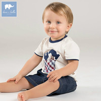 DB7533 Dave Bella Summer Baby Boy S Fashion Print Clothing Sets Children Infant Toddler Suit Kid