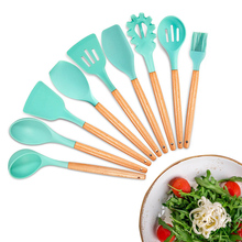 Silicone Cooking Utensils Kitchen Utensil Set, 11 Pieces Acacia Wooden Cooking Tool for Nonstick Cookware – Best Kitchen Gadgets